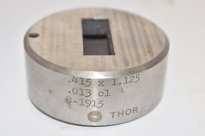 Punch Die Set Roper Whitney Press Diacro Rectangle .415 X 1.125 Thor 8-1915