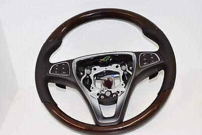Original Mercedes-Benz Holzlenkrad Lenkrad Holz GLE GLS W166 X166 Espressobraun