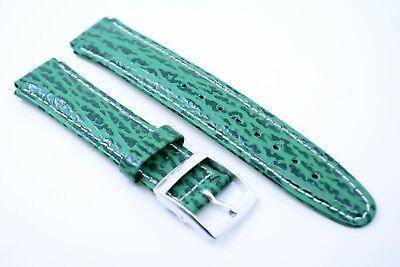UNITED COLORS OF BENETTON Uhrenarmband Ersatzband Echtleder Bracelet 15 mm Grün