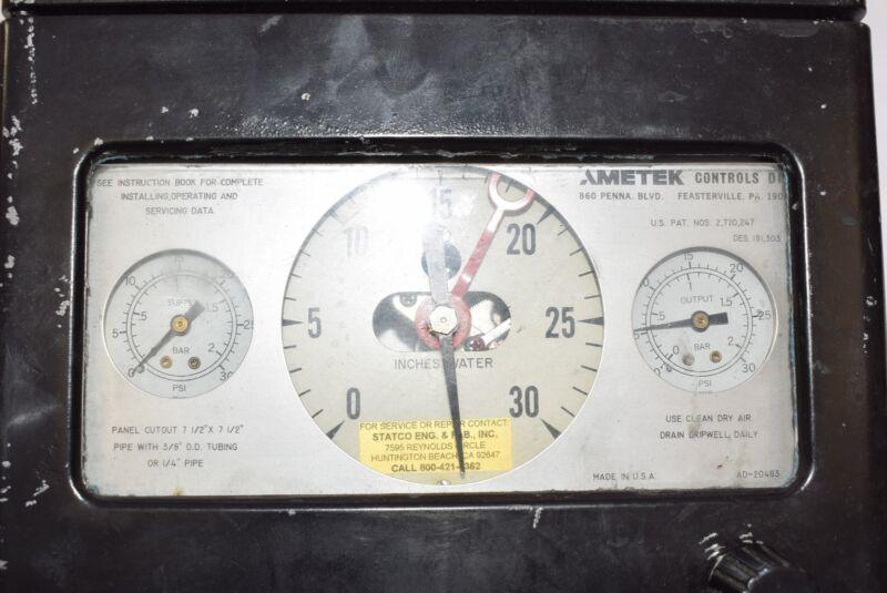 Ametek CH-6305-D Pneumatic Pressure Control Standard AD-20483