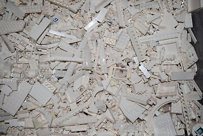1lb of Assorted WHITE Lego Bricks & Parts & Pieces Sold in Bulk by the - Toys By Bulk