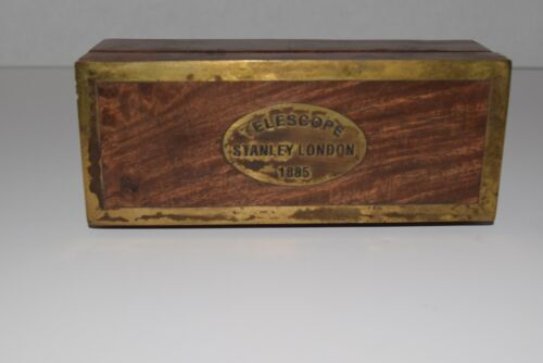 1885 Stanley London Maritime Telescope With Wood Box Case