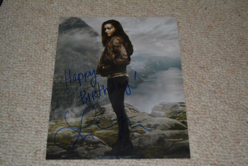 LINDSEY MORGAN signed  Autogramm 20x25  In Person THE 100 Raven + HAPPY BIRTHDAY