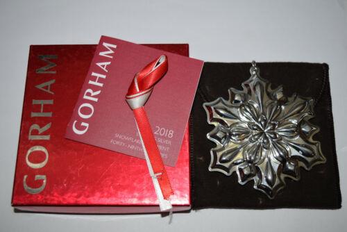 Gorham Annual Sterling Snowflake Ornament 2018 Used Bad Box