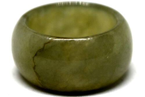 Antique Chinese Untreated/Undyed Jade Ring Size 7.5