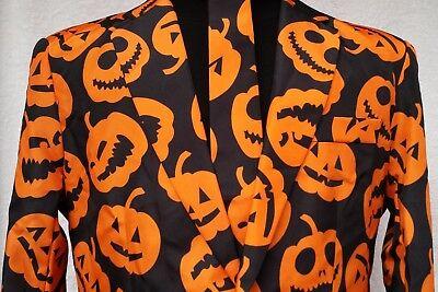 NWT David S. Pumpkins Jack-O-Lantern Suit SNL Costume Sz L 42-44 Tom Hanks - Pumpkin Suit Costumes