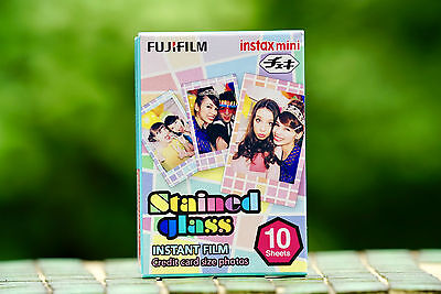 1Pack Stained Glass Instax Fujifilm Instant Film For Mini 90 70 7s 8 25 SP-1 50s
