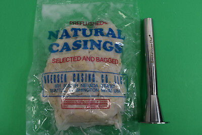 2 116 X 34 Sausage Stuffer Tube And Natural Pork Casings For 100 Lbs Of Meat