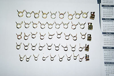 KAWASAKI KZ 900 1000 1100   FUEL OIL VENT CLAMPS 50PC