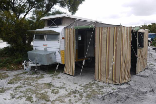 Cool Light Weight Easy To Tow, Single Beds With Innerspring Mattress, Solar Panel, TV, CD Player &amp Radio, Picnic Chairs &amp Table, Porta Potti, Fridge, Gas Bottle, Awning, Annex And Caravan Cover As Pictured Regretful Sale Due To Illness Universal