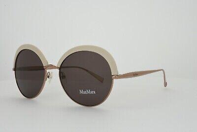 MAX MARA Sunglasses Ivory Gold Round ILDE II 025A Purple Lens Brand (Max Mara Round Sunglasses)