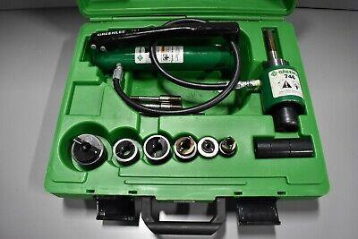 Greenlee 7646 Hydraulic Knockout Punch Driver Set W Hydraulic Ram