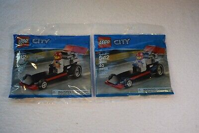 Lego 300358 city dragster lot fof 2 in sealed bags
