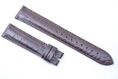 Original EMPORIO ARMANI Uhrenarmband Echtleder 18 mm Band Braun Kroko strap