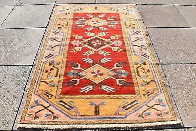 Vintage Area Rug,Yellow Muted Rug,Turkish Rug,Kitchen Rug,White Yellow Rug,about 6x3 rug,Turket Rug,Anatolian Rug,Oushak Rug,Bohemian Rug