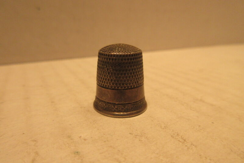 Vintage Sterling Silver Childs Thimble Size 7 Closed Top