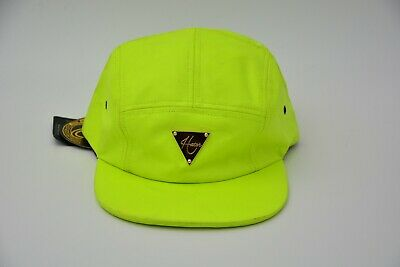 Hater Snapback Hat Neon Green Size Adjustable Used