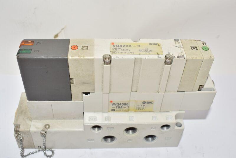 SMC VQ4200-3-03T Solenoid Valve Block VVQ4000-20A-1 0.15-1.0MPa Assembly