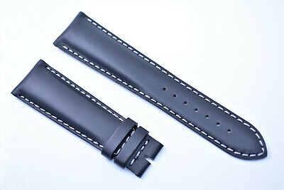Original Tissot 1853 V8 Uhrenarmband 22 mm Schwarz Echtleder Armband weiß naht