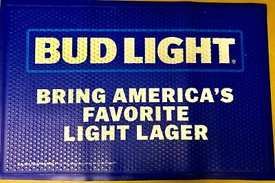 """BUD LIGHT BRING AMERICA'S Rubber Floor Mat - USA Quality - NEW in BOX - 36""""x24"""""""