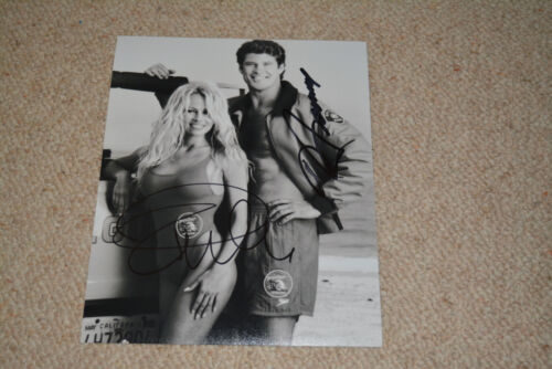 DAVID HASSELHOFF & PAMELA ANDERSON signed autograph In Person 8x10 (20x25cm)