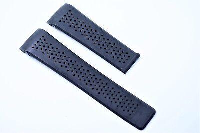 Uhrenarmband 24 mm 22 mm Schwarz für Tag heuer Carrera Calibre watch band rubber Uhren Carrera