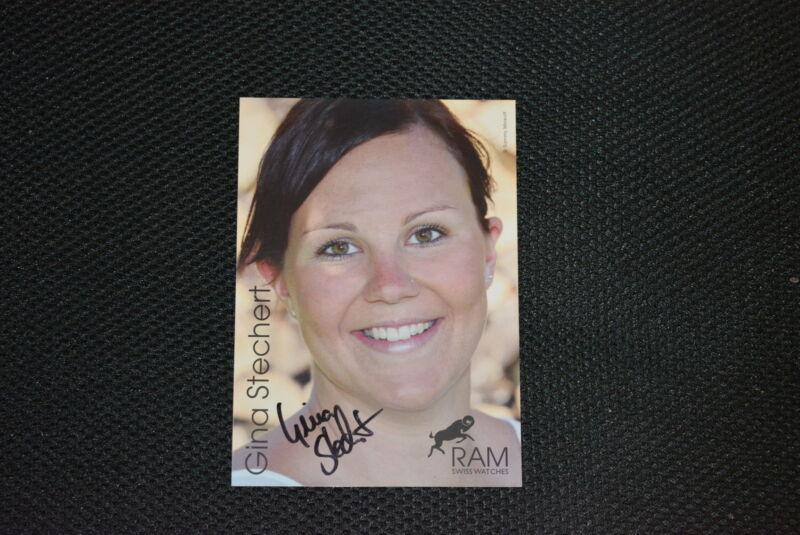GINA STECHERT signed Autogramm  10x15 cm  SUPER-G Slifahrerin