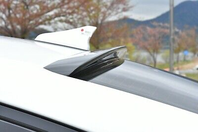 Rear Roof Glass Wing Spoiler Painted Black for Hyundai Elantra 2019 2020 2021