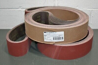 "New  U.S.A. 10 Pcs. 4"" x 132"" 3M Resin Bond Cloth Sanding Belts 240X Grit"