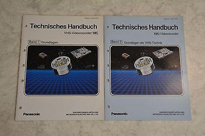 Panasonic - Technisches Handbuch Band 1 + 2 - Grundlagen der VHS Technik - gebr.