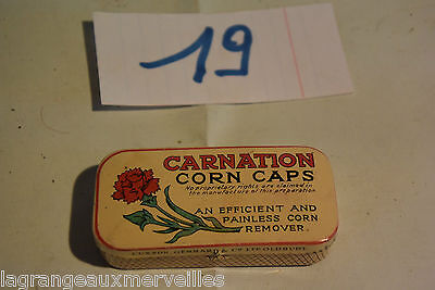 C19 Boite en métal Carnation corn caps