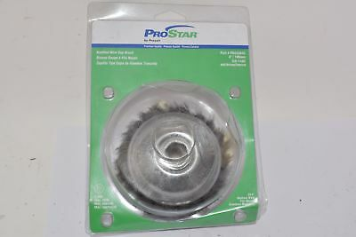 New Praxair 4 Knotted Wire Cup Brush Pro Star Prs53043 100mm 014 Medium Wi