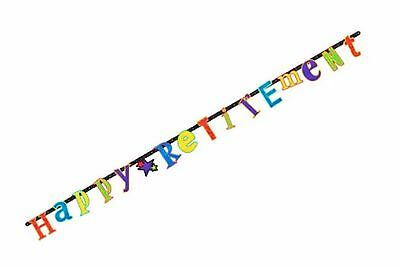 10 ft Letter Banner Happy Retirement Hanging Decoration Party Supply  7-5B