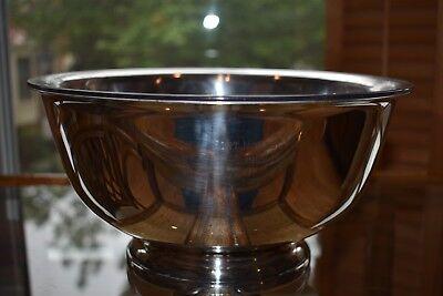 "Gorham YC784 Silverplate Bowl w/Plastic Liner Inscribed ""Fort Monroe 1965-1966"""