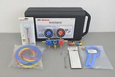 New Spx Robinair R134a Manifold Gauge Set 13136 W Case Hvac Ac Refrigeration