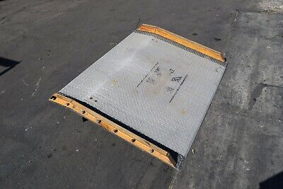 Koke Truck Loading Dock Plate Board Forklift Ramp Alum Diamond 15000 Lb Cap