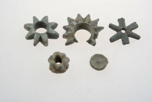 Lot of 5 Celtic bronze proto money 500-200 BC