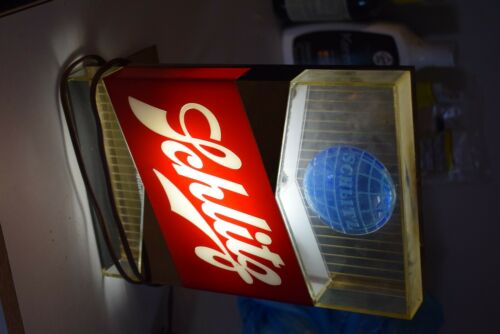 Vintage Lighted Schlitz Beer Signn Working Great