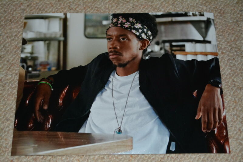"DARRELL BRITT-GIBSON signed Autogramm 20x25 cm In Person THE WIRE ""O-Dog"""