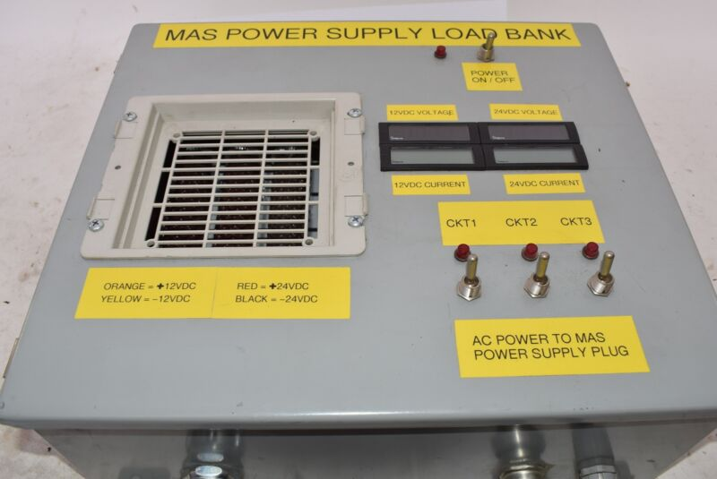 MAS POWER SUPPLY LOAD BANK 24VDC - Tested/Working