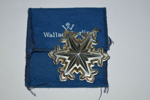Wallace Annual Sterling Memories Snowflake Ornament 1990 Used Pouch Only