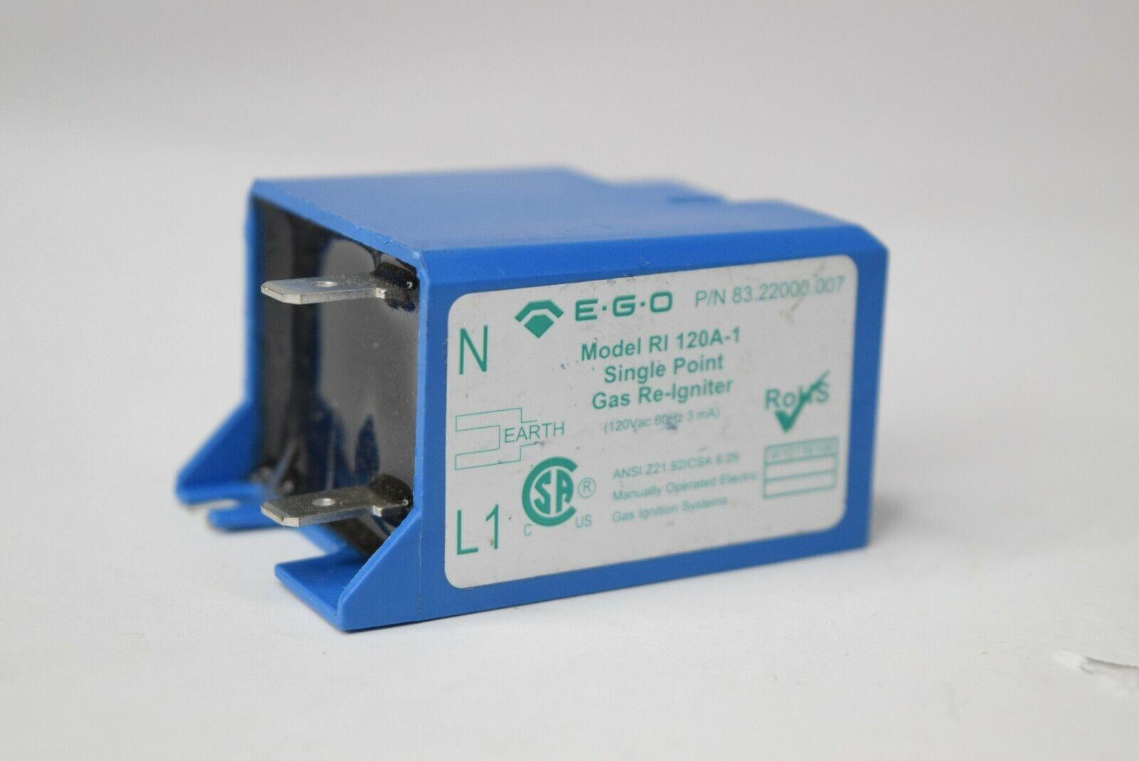 EGO 83.22000.007 RI 120A-1 Single Point Gas ReIgniter Igniter Spark Module 120v
