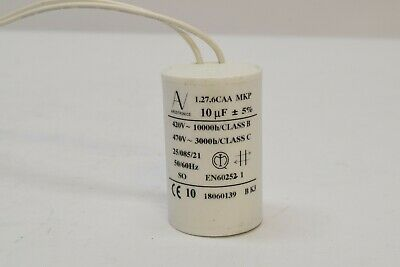 Arcotronics 10uf 420v 470v Ac Motor Start Capacitor 1.27.6caa Mkp Wire Leads