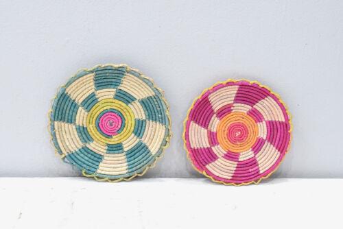 African Basket Botswana Set of 2 Natural Color Baskets South Africa