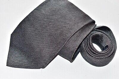 Men's Altea Milano Black Silk Neck Tie made in Italy