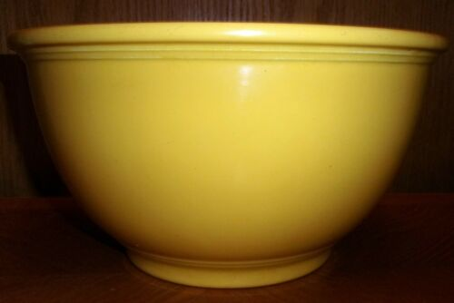 Vintage Fiesta Kitchen Kraft Mixing Bowl Original Yellow 1937-1941 EXCELLENT