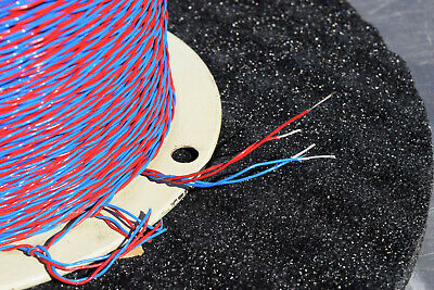 New- Thermax 2250 Teflon Silver Wire 22 Awg Red Blue 2c Twisted Pair Guaranted