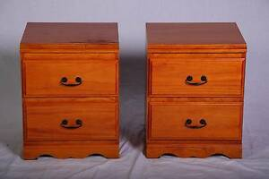 Pair of solid pine bedside chests Metal Runners,DEL. AVAILABLE Oakford Serpentine Area Preview