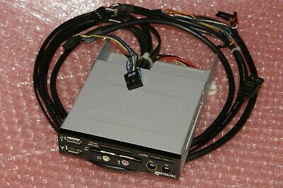3.5 Frontpanel Revoltec - 5V, 12V, USB 2.0, FireWire, e-SATA, SD, CF, Audio