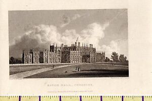 1828-ANTIQUE-SMALL-GEORGIAN-PRINT-EATON-HALL-CHESHIRE